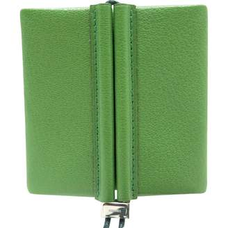 Hermes Vintage Green Leather Small Bag, wallets & cases