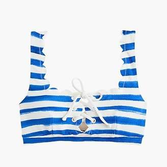 J.Crew MarysiaTM Palm Springs tie bikini top in watercolor stripe
