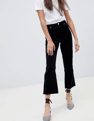 Miss Selfridge kick flare pants in black