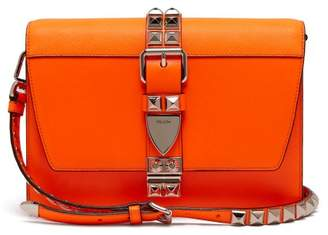 Prada Elektra Leather Cross Body Bag - Womens - Orange