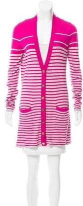 Magaschoni Striped Silk Cardigan