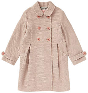 Jigsaw Girls' Double Breasted Coat, Pink