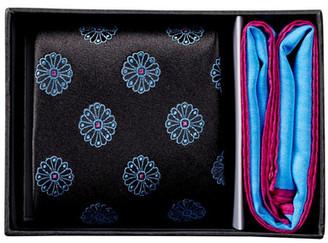 Ted Baker London Floating Flower Silk Tie & Pocket Square Set $95 thestylecure.com