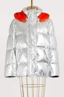 Yves Salomon Army Fur-lined ultra-light puffer jacket