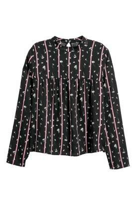 H&M Patterned Blouse - Black/patterned - Women