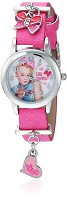 Nickelodeon Girls' Analog-Quartz Watch with Leather-Synthetic Strap