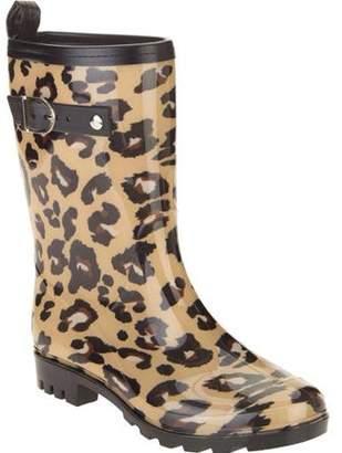 d77ba9f069d3d Unbranded Women's Leopard Spot Printed Mid-Calf Jelly Rain Boots