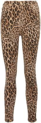 Frame 'Ali' cheetah print skinny cigarette jeans