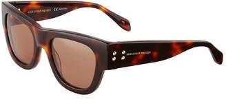 Alexander McQueen Plastic Printed Sunglasses, Brown