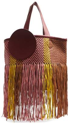 Roksanda Eider Fringed Woven Leather Bag - Womens - Multi