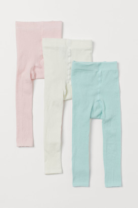 H&M 3-pack Fine-knit Leggings