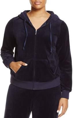 Juicy Couture Black Label Plus Black Label Robertson Velour Zip Hoodie - 100% Exclusive