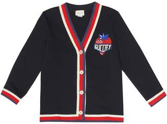 Gucci Kids Appliqued cotton cardigan