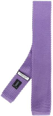 Fashion Clinic Timeless woven square-tip tie