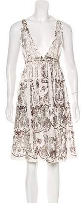 Miu Miu Sleeveless Printed Dress