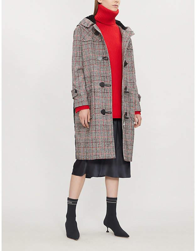 Mcq Alexander Mcqueen Contrast-panel wool-blend coat