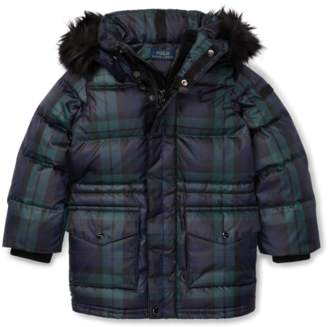 Ralph Lauren Tartan Plaid Down Coat