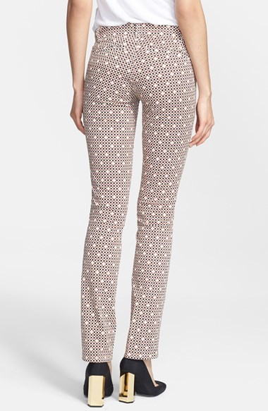 Tory Burch 'Kaine' Print Bootcut Stretch Jeans (Desert Square)