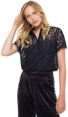 Juicy Couture Hailey Lace Polo Top