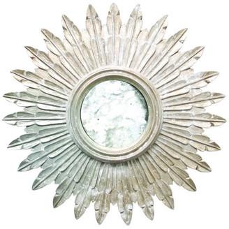 Worlds Away Gold Leaf Handcarved Mirror