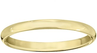 Men's 14K Yellow Gold 2.5mm Half Round WeddingBand