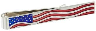 Cufflinks Inc. Waving Stars and Stripes Tie Bar Cuff Links