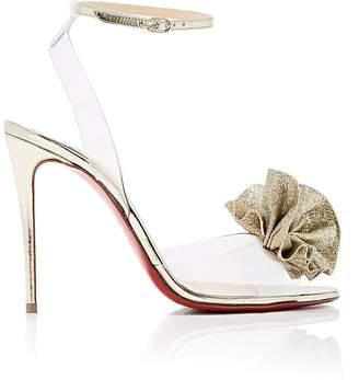 Christian Louboutin Women's Fossiliza PVC & Specchio Leather Sandals