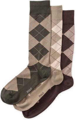 Men's Polo Ralph Lauren 3-Pack Argyle Socks $23 thestylecure.com