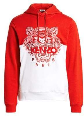 Kenzo Embroidered Tiger Cotton Hoodie