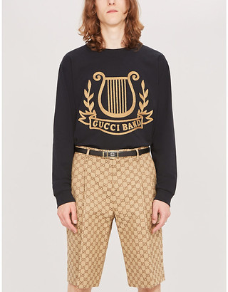 Gucci Graphic-print cotton-jersey sweatshirt