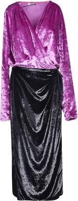 ATTICO Wrapped Detail V-neck Dress
