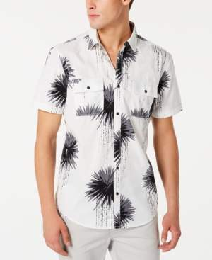 INC International Concepts I.n.c. Men's Regular-Fit Dripping Palm-Print Shirt, Created for Macy's