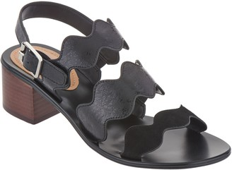 Marc Fisher Block Heel Back Strap Sandals - Omalla