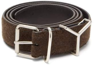 Y/Project Y Loop Wool And Leather Belt - Mens - Brown