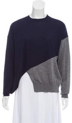 Celine Céline Silk-Wool Colorblock Sweater Navy Céline Silk-Wool Colorblock Sweater