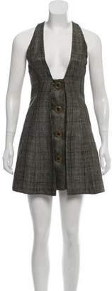 Karen Zambos Sleeveless Linen Mini Dress