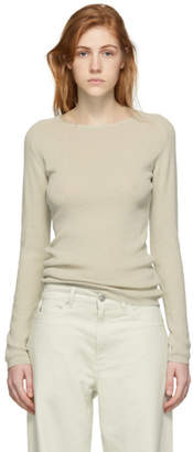 Our Legacy Beige Knit Crepe Slim Sweater