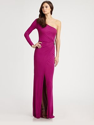Roberto Cavalli Wrap-Front Gown