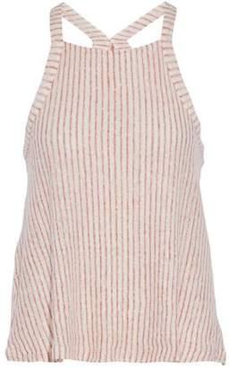 Splendid Striped Linen And Cotton-Blend Tank