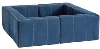 Pottery Barn Teen Cushy Pit Sectional Set, Enzyme Washed Denim, QS EXEL