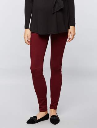 AG Jeans Pea Collection Secret Fit Belly Sateen Maternity Pants- Burgundy