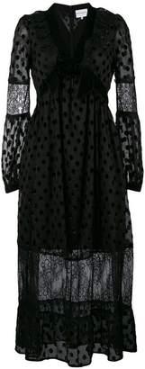 Perseverance London polka dot and lace long dress