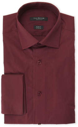 Isaac Mizrahi New Burgundy Slim Fit Stretch Dress Shirt