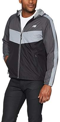 New Balance Men's Colorblocked Chevron Poly Dobby Jacket