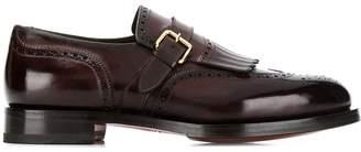 Santoni buckle detail loafers