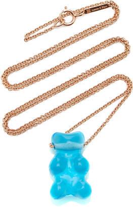Lauren X Khoo Gummy Bear 18K Rose Gold and Quartz Necklace