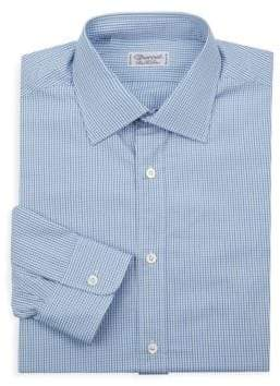 Charvet Slim-Fit Micro Check Dress Shirt