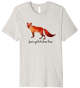 Just a girl who loves Foxes shirt T SHIRT