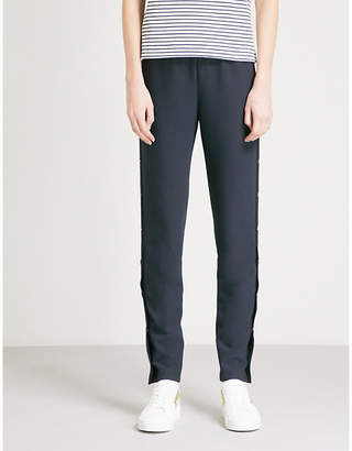 Maje Prune straight tapered woven trousers