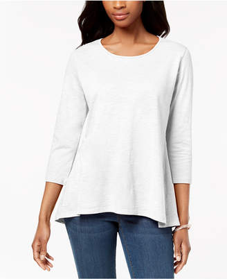 Style&Co. Style & Co Petite Cotton Peplum-Back Tunic, Created for Macy's